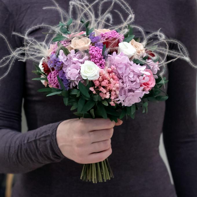 Букет из стабилизированных цветов