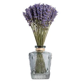 Французская лаванда в серо-голубой вазе